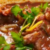 Marinated veal osso buco.